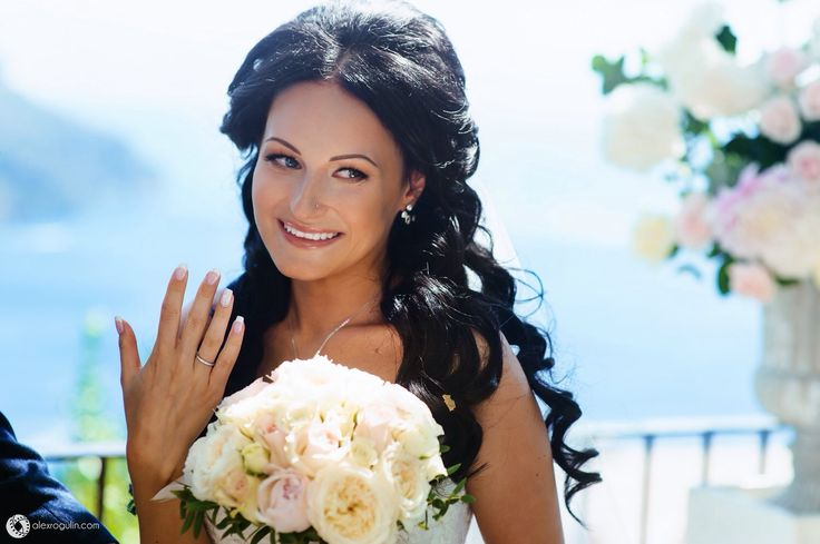 Невеста Оля на свадьбе в Италии, город Равелло