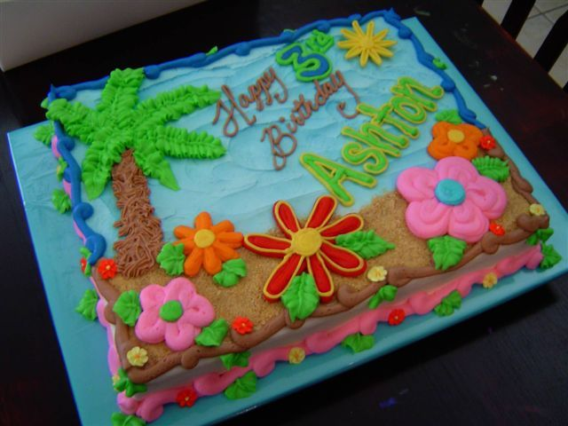 luau birthday cake designs - Google Search