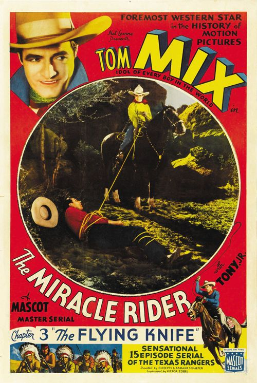 3ee5ef5b Details about The Miracle Rider (1935) Tom Mix classic western movie ...