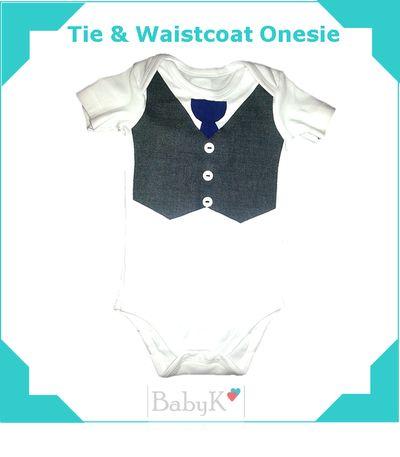 Tie & Waistcoat Onesie for some old school by BabyK.