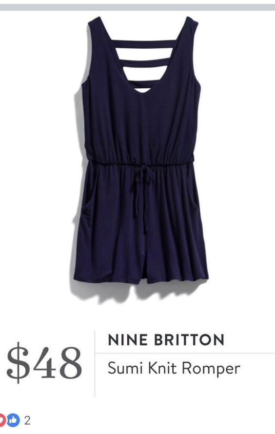 Sign up today for STITCH FIX! Get items like this delivered to your door, keep what you want & return what you don't. SPRING & SUMMER TRENDS 2018! #stitchfix #influenceAdorable NINE BRITTON Sumi Knit Romper |