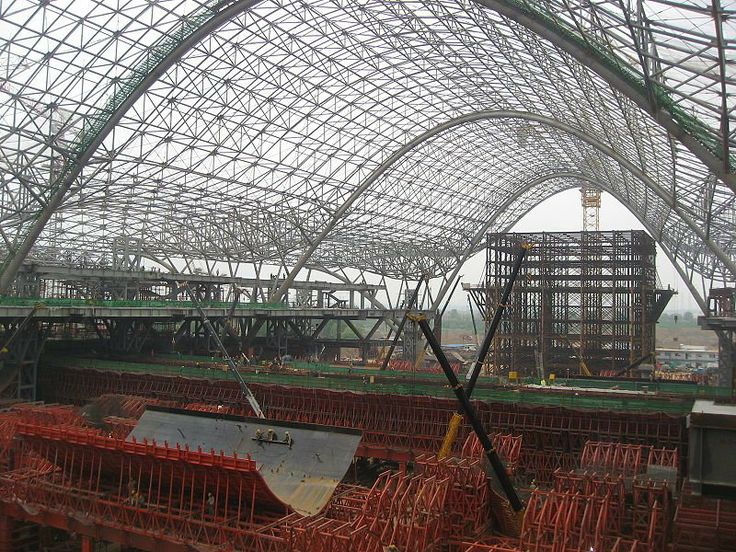"""$2.12 BILLION: Wuhan Station serves the world's fastest trains"" #china #megproject #construction"