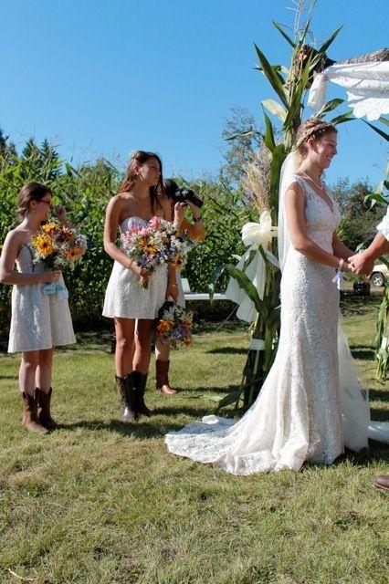 Elegant country cowboy weddings at the farm at Prairie Gardens. www.PrairieGardens.org