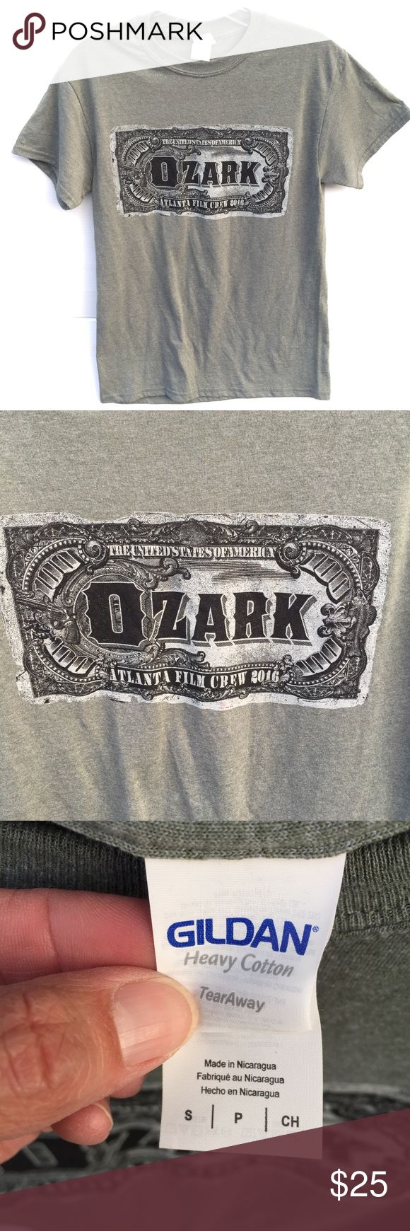 OZARK NETFLIX CREW T From the Netflix series OZARK starring Jason Bateman. Special Effects t shirt size small. Crew t shirt from the series. See my work on IMDB. I work in the movie business. No discounts. MOVIE T Tops Tees - Short Sleeve