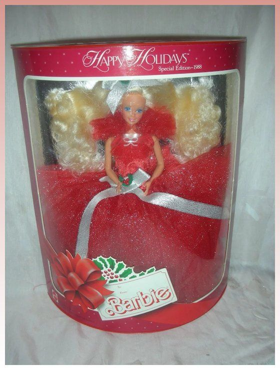 52834 NRFB Mint w//LN box Target Home For the Holidays Barbie 2001