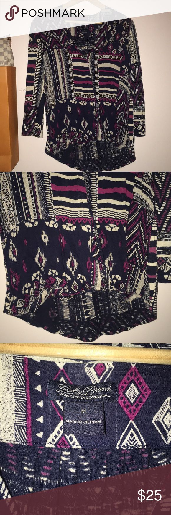 Lucky Brand Aztec Top Lucky Brand Aztec Top Lucky Brand Tops
