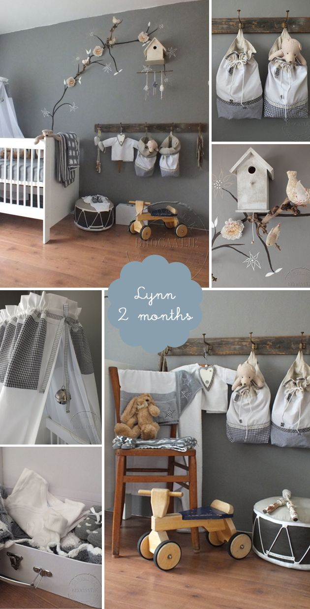 Nursery & Kids Room Interior Design Blog | Room to Bloom | Romantic grey baby girl's nursery