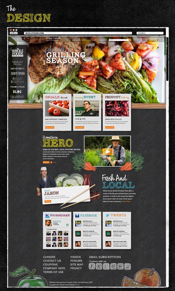 WholeFoodsMarket.com Redesign by Chris Klee, via Behance
