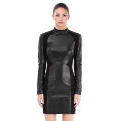 Clothing ARYA  - BLACK POLYESTER - ELASTANE - LEATHER