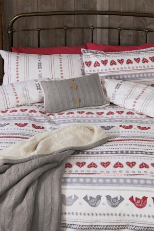 Bird Print Brushed Cotton Bed Set from Next