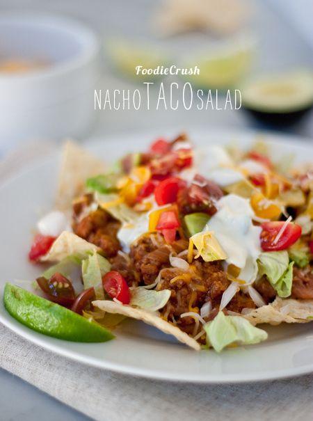 Craving > Nacho Taco Salad & Kid-Friendly Veggie Sneak Attack Recipes | foodiecrush