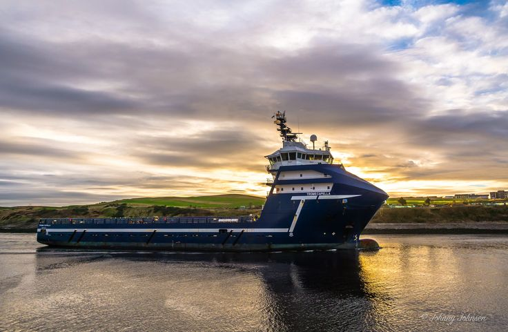 "Photo: This is the first photo I took with my new lens, I am really looking forward to some good weather and clear days in the weekends to come :-) The photo is of ""Troms Capella"" on it`s way in to Aberdeen harbor this morning. I hope you like it, and I hope that there will be many more to come. For sure I will post some more photos taken this morning in the coming days :-)   You can follow the ship at +MarineTraffic : http://goo.gl/STslAu  Name: Troms Capella IMO: 9480722 Flag: Isle Of Man…"