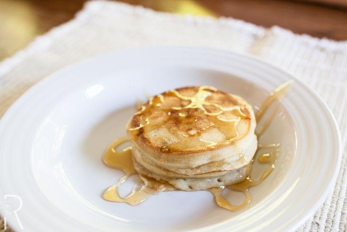 #Vegan Mini Coconut Pancake Stacks with #Apple Syrup (BeeFreeHonee)