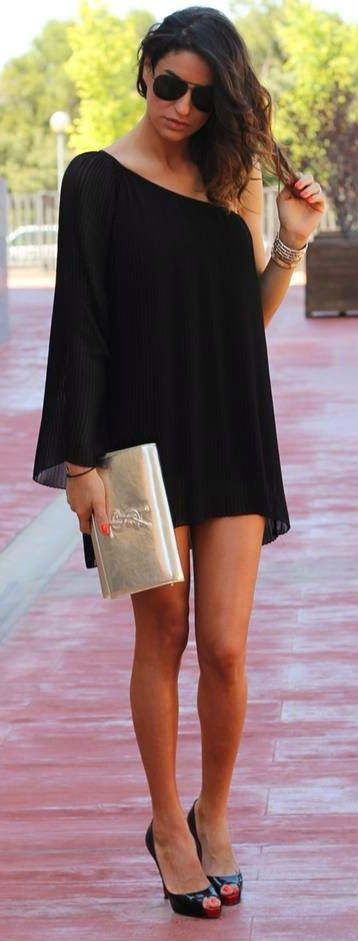 Everyday New Fashion: Little Black Summer Dress