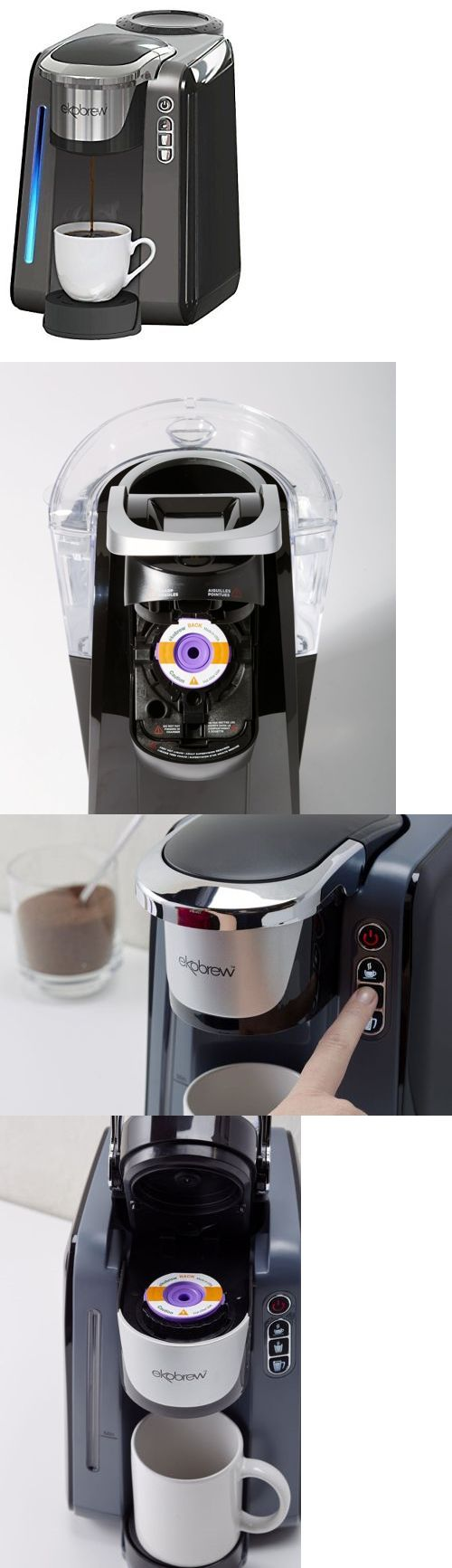 Coffee Makers Automatic 65635: Ekobrew Single Cup Coffee Maker For K-Cups Reusable Coffee Filter Included K Cup -> BUY IT NOW ONLY: $69.99 on eBay!