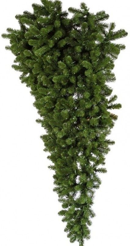 6.0′ American Upside Down Half Christmas Tree