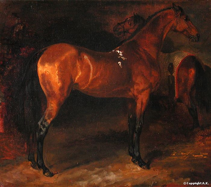 Théodore Géricault Cheval espagnol dans un écurie