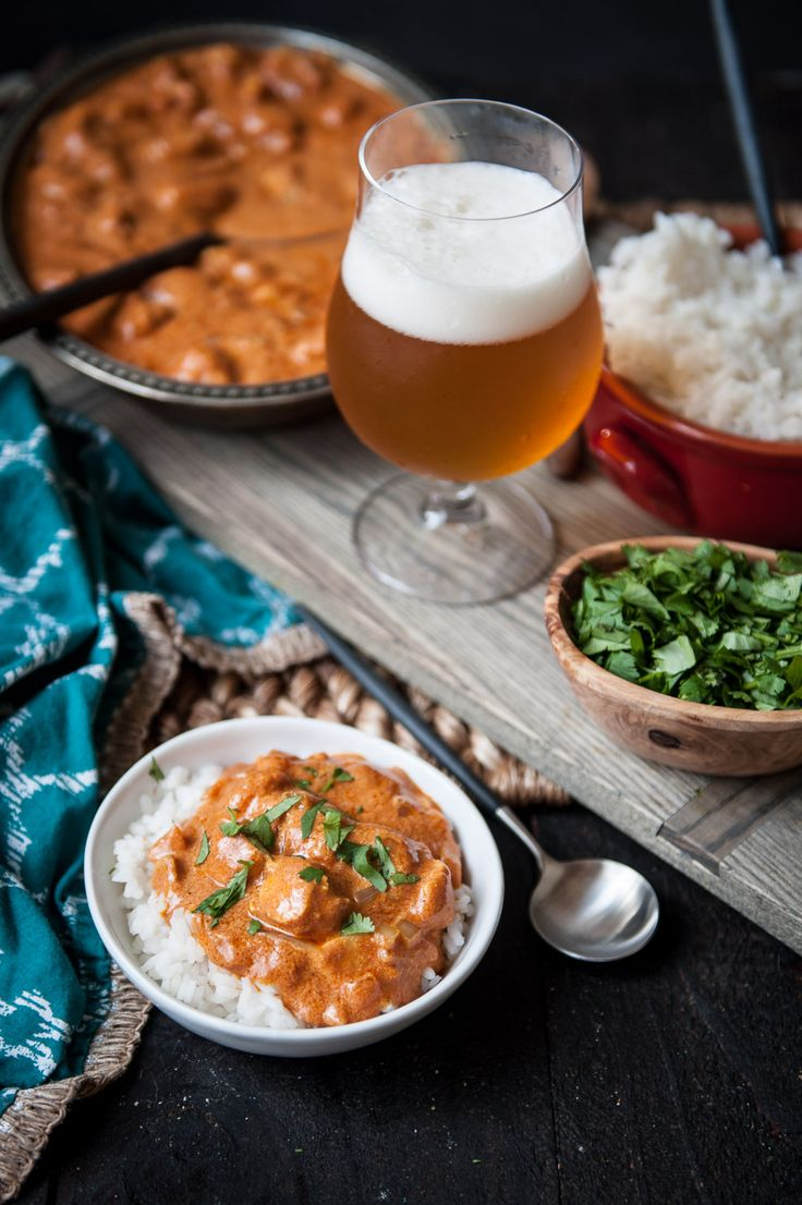 15 minutes to this delicious dinner: Indian Beer and Butter Chicken There's a small Indian restaurant in LA, run by an amazing family from Delhi.  They cook family recipes for the masses who line up outside their doors. I'd make a call to this little spot when I was sick, or just too tired to leave…