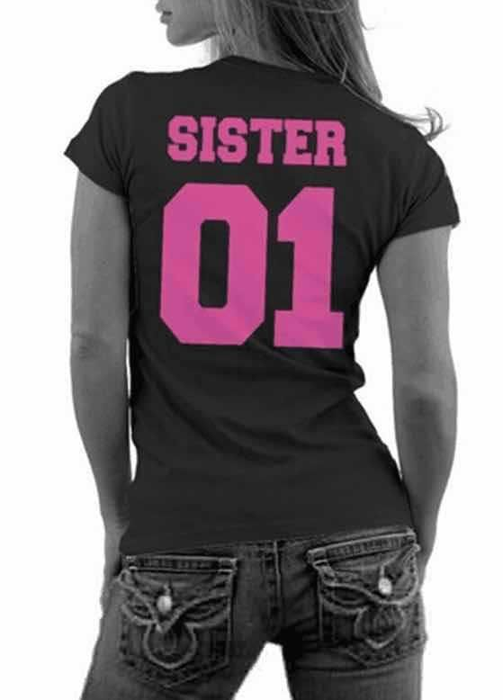 Summer Fashion Casual Cotton Round neck sister T shirt 01 Women Short Sleeves T shirt Tops on http://ali.pub/f2pr8