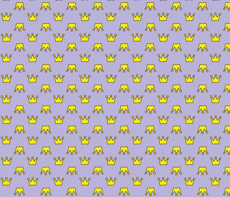 crown_lilac fabric by wextverk on Spoonflower - custom fabric