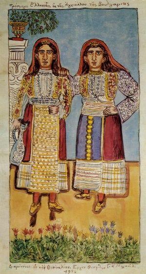 Προσφυγες Απο Αγχιαλο, Θεόφιλος Κεφαλάς - Χατζημιχαήλ | Καμβάς, αφίσα, κορνίζα, λαδοτυπία, πίνακες ζωγραφικής | Artivity.gr