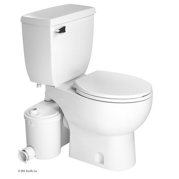 Upflush Toilet - SaniBEST Pro: Heavy-Duty Upflush Toilet Kit
