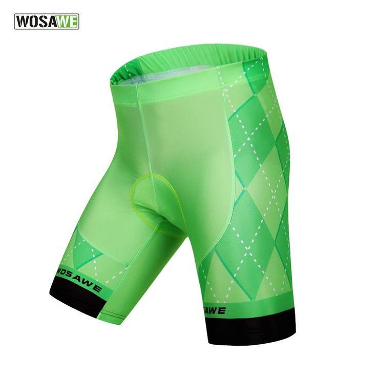 WOSAWE Cycling Shorts Men Shorts Underwear Bicycle Cycling Padded Gel 4D Bike Shorts