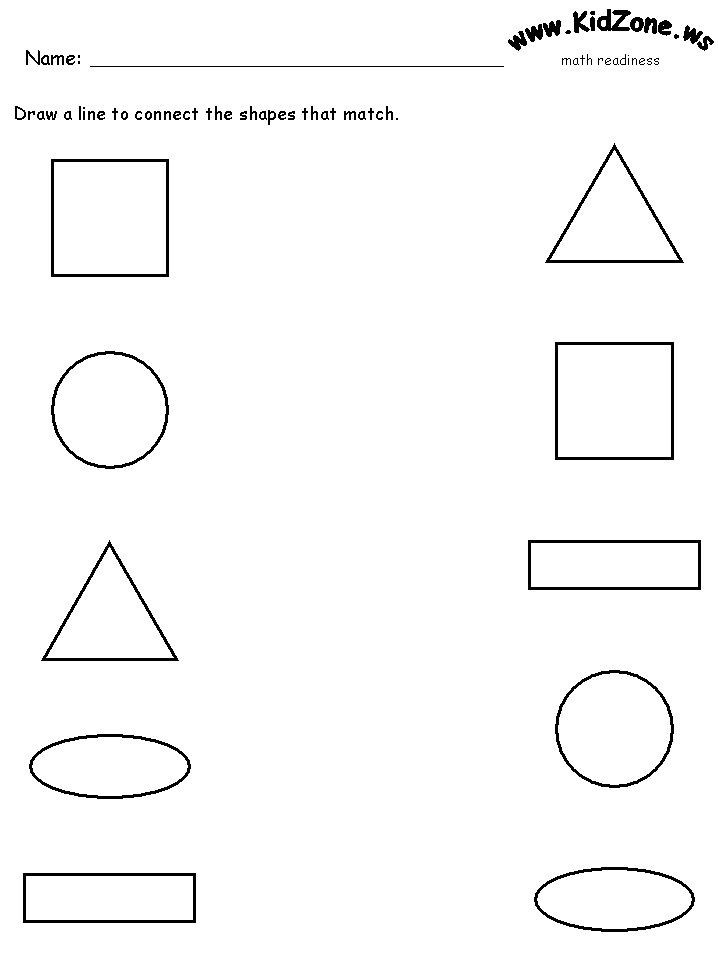 1000+ images about shapes on Pinterest | Worksheets, Shape and ...