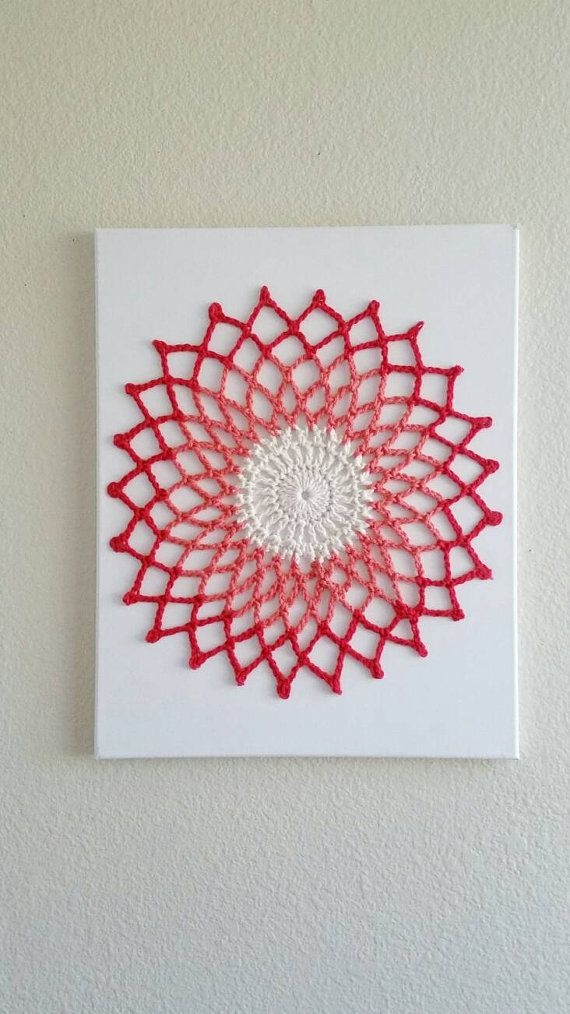 Check out this item in my Etsy shop https://www.etsy.com/listing/271112354/wall-art-mandala-crochet-wall-hanging