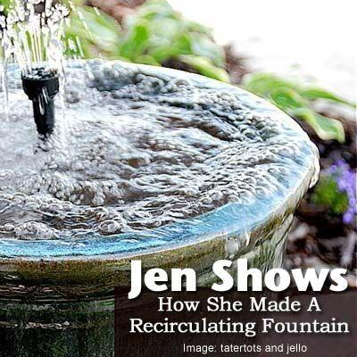 how to make a random water fountain