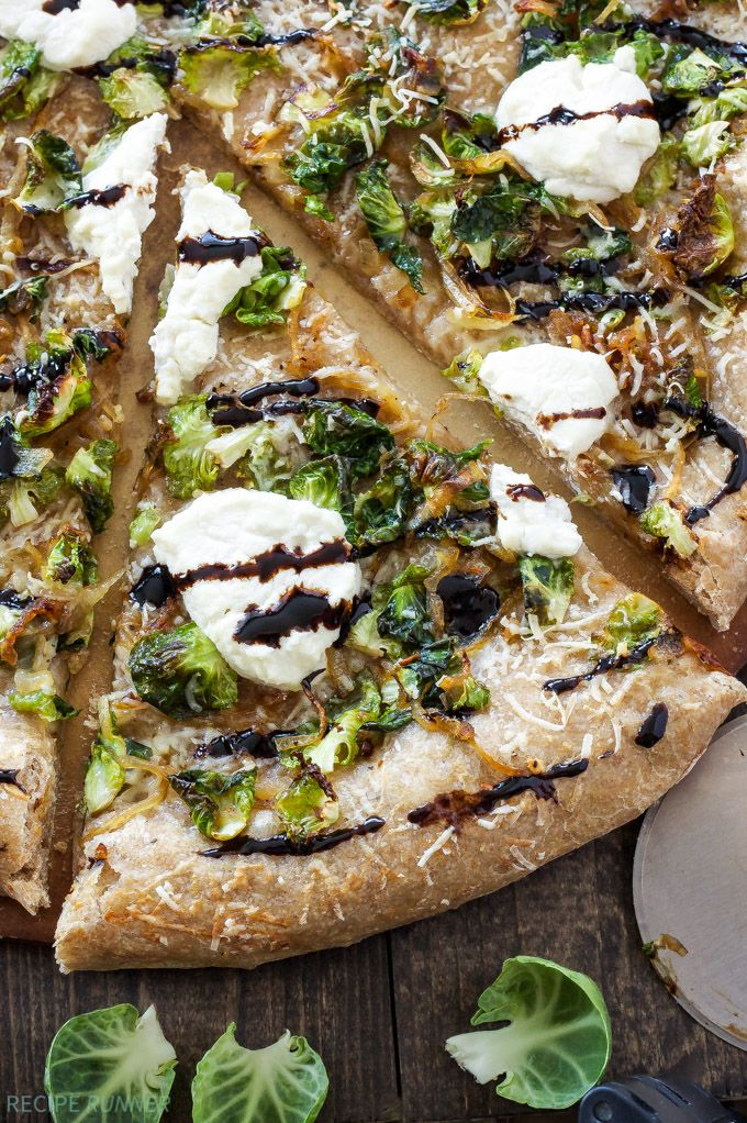 Brussels Sprouts and Ricotta Pizza   You're sure to become a Brussels sprouts lover after a slice of this pizza! - Recipe Runner