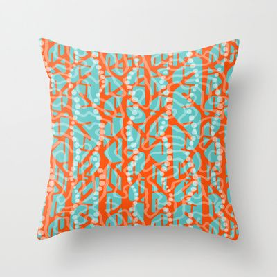 CORAL REEF Throw Pillow by Chicca Besso - $20.00