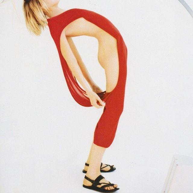 Elle Russia 1998  by Francois Halard // dress by Hussein Chalayan