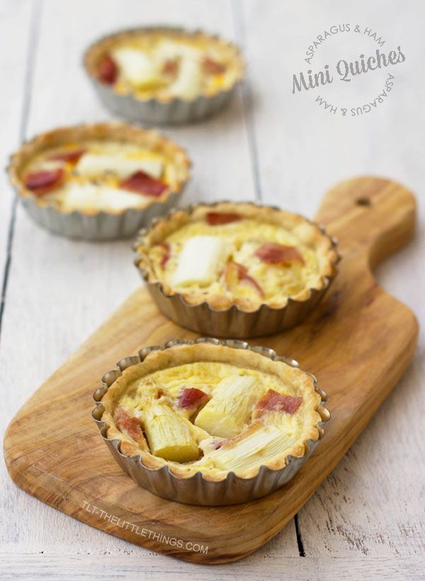 TLT - The Little Things | Recept: Quiches met asperges en ham | http://tlt-thelittlethings.com/nl/
