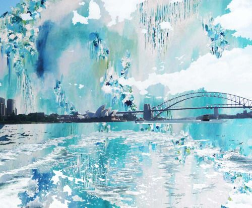 The bridges that divide seas and skies #Sydney #Harbour #Bridge