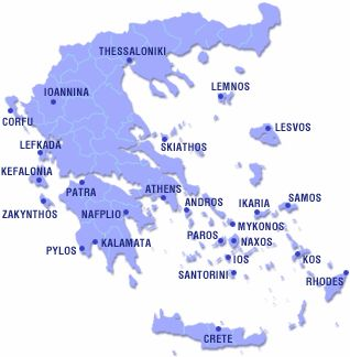 Greece Map  Explanation- This is Greece during the late bronze age. Mycenae and Crete are very visible on this map.