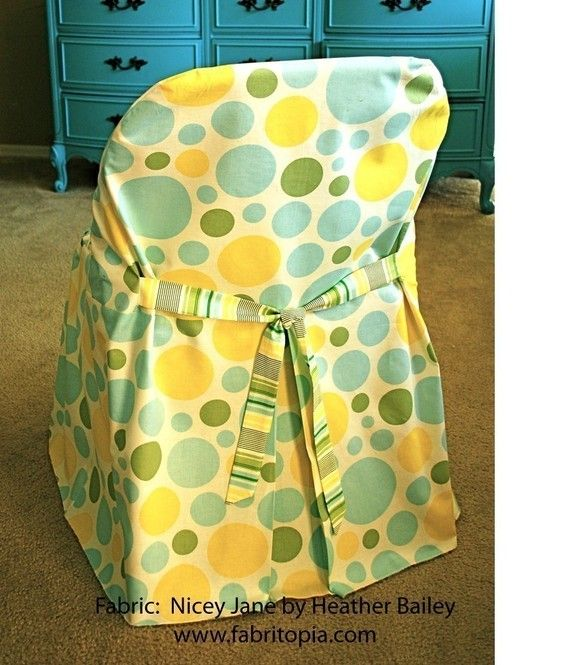 slipcover chic folding chair cover pdf sewing by fabritopia