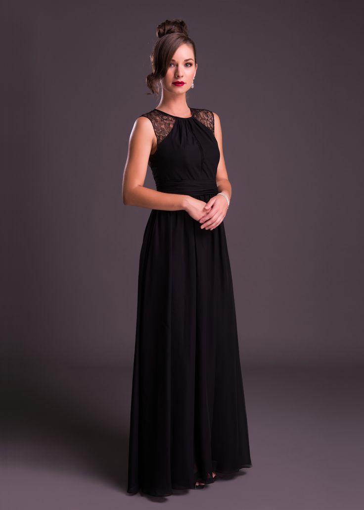 Sheer shoulder, long dress<em>Limited Stock Available. </em>
