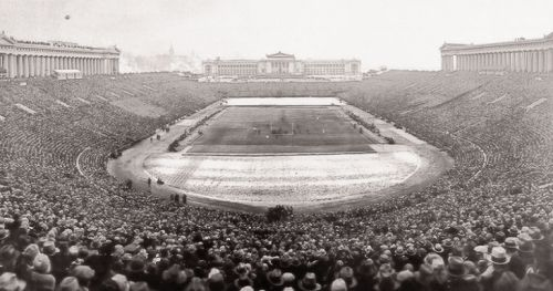 1926 College Football National Championship - Army vs Navy  Soldier Field, Chicago. Attendance: 110,000.