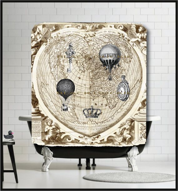 Antique Heart Shaped World Map in Latin dated by TheBlackDuckie