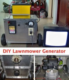 Build A DIY Generator From A Lawnmower For $40...http://homestead-and-survival.com/build-a-diy-generator-from-a-lawnmower-for-40/