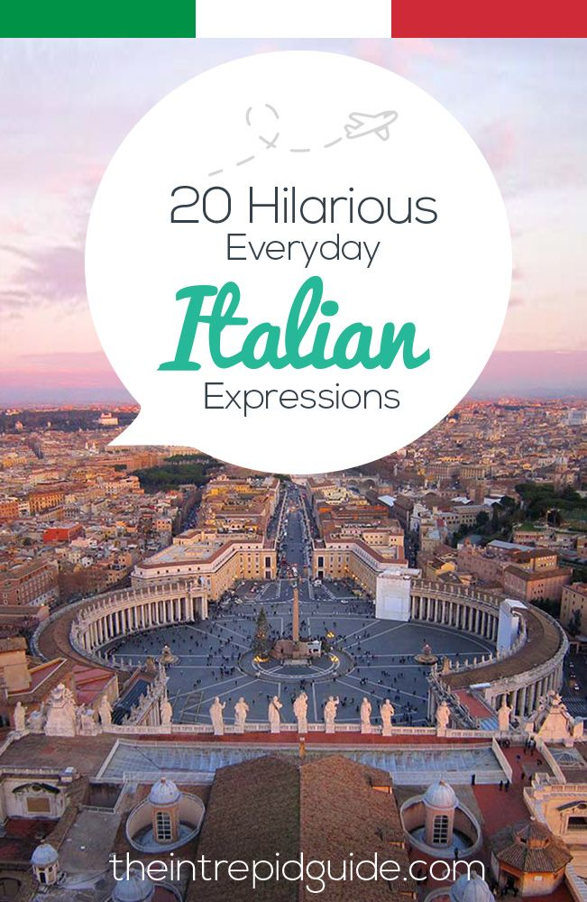 20 Hilarious Everyday Italian Expressions You Should Use