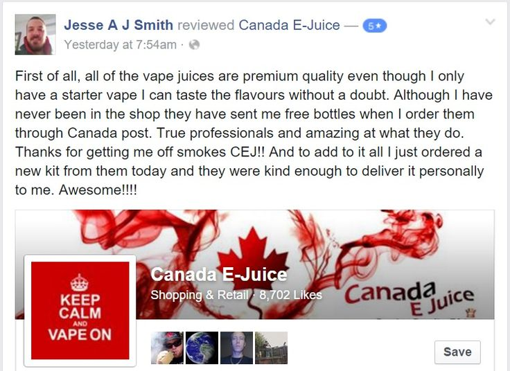 Latest facebook review for http://canadaejuice.com