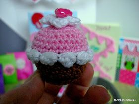 Gratis Patroon Gehaakte Cupcake Sleutelhanger
