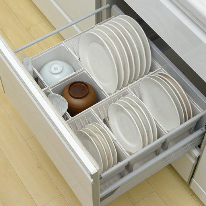 楽天市場 キッチン収納ケース ディッシュスタンド L システムキッチン