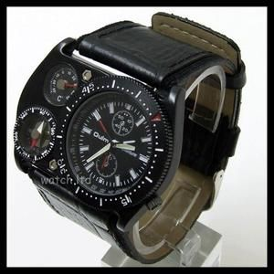 OULM Quartz thermometer Men's Military Watch UK Army 09