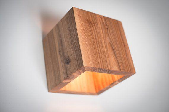 wood lamp Q#436 handmade. wall lamp. wooden lamp. sconce