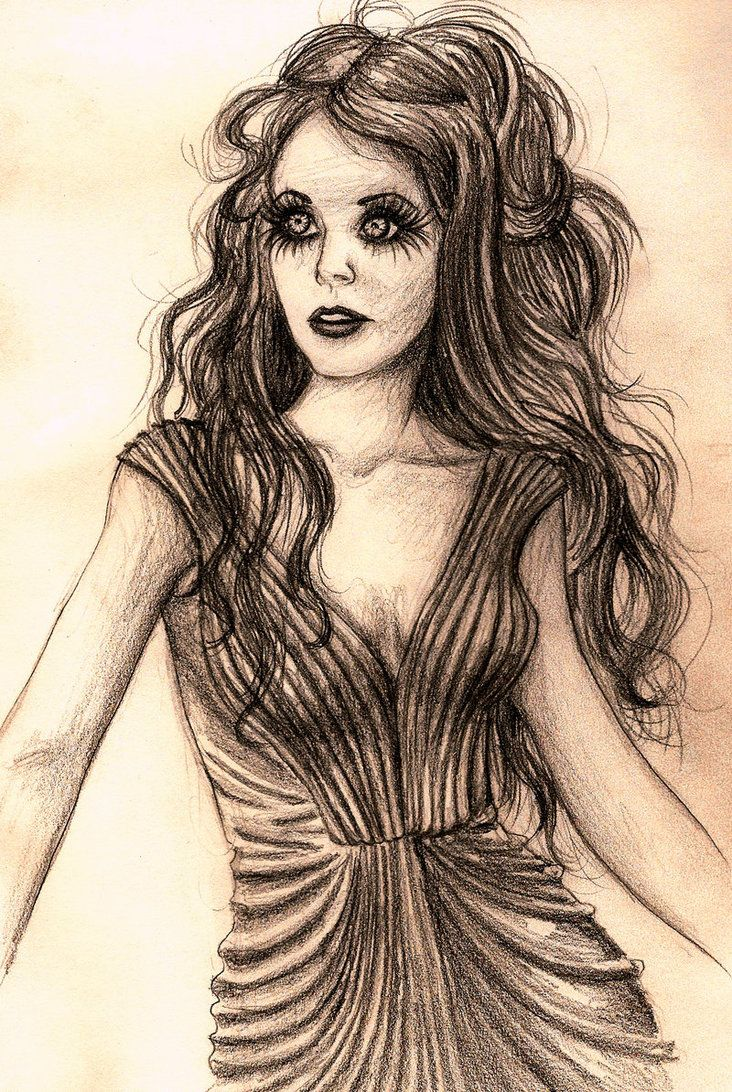 Sketch of Blind Mag from Repo! The Genetic Opera.