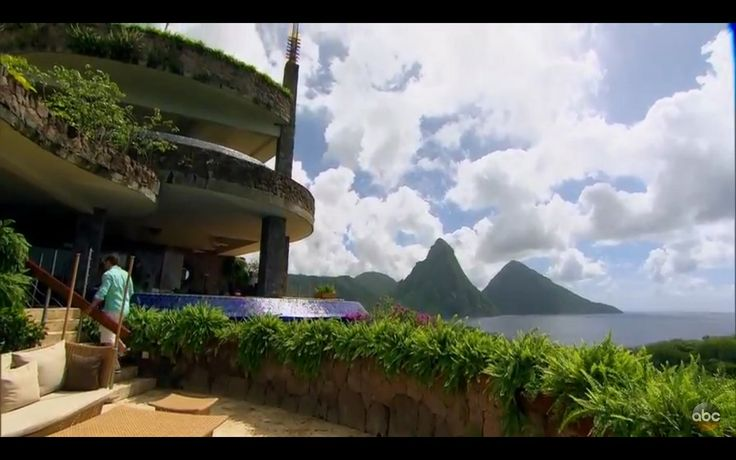 Take in the unique architecture and beautiful vistas at Jade Mountain