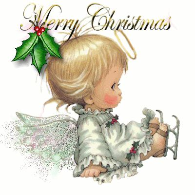 ...  here is a animated clipart of teddy bear to say Merry Christmas with…